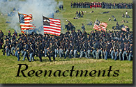 Reenactments of Civil War Battles and Living History Demonstrations